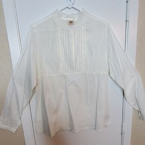 Ivory 6 Button Blouse